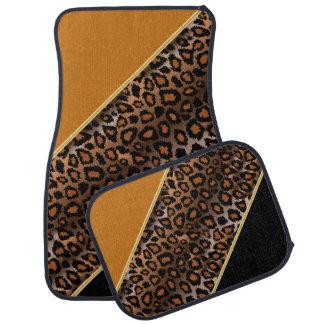 Le poster de animal | Brown d'or de Jaguar | Tapis De Sol