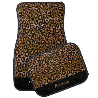 Le poster de animal | Brown d'or de Jaguar | Tapis De Voiture