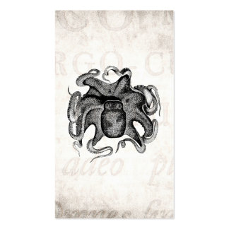 Le poulpe vintage aiment la seiche de 1800s de carte de visite standard
