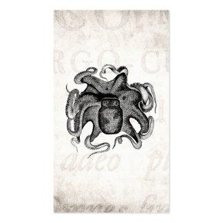 Le poulpe vintage aiment la seiche de 1800s de sei carte de visite standard