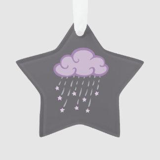 Le pourpre courbe le nuage de pluie avec des