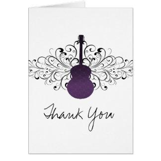 Le pourpre tourbillonne carte de remerciements de