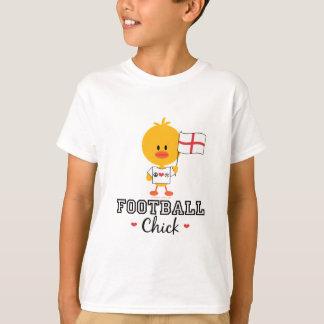 Le poussin anglais du football du football badine t-shirt