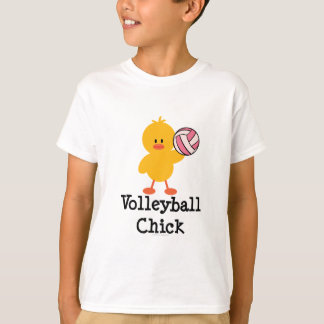Le poussin de volleyball badine le T-shirt