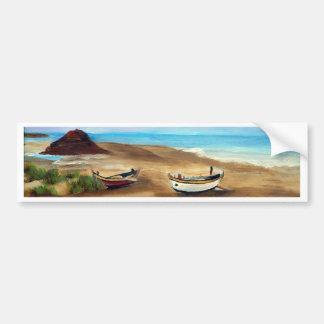Le Praia font Meco - óleo - 20x40 Autocollant Pour Voiture