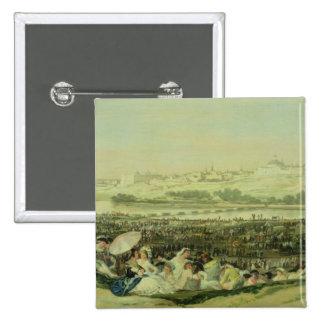 Le pré chez San Isidro, 1788 (huile sur la toile) Pin's