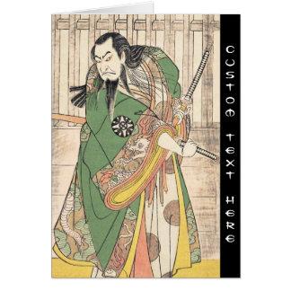 Le premier Nakamura Nakazô dans le rôle de Hige au Carte De Correspondance