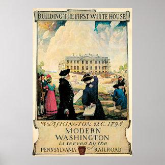 Le premier poster vintage de la Maison Blanche