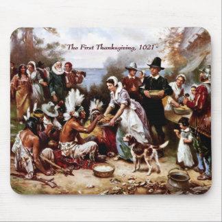 Le premier thanksgiving, 1621. Beaux-arts Mousepad Tapis De Souris