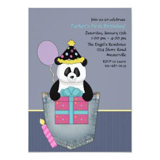 Le présent du panda de poche - invitation de fête