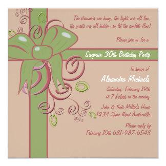Le présent - invitation de fête d'anniversaire