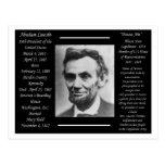 Le Président Abraham Lincoln Cartes Postales
