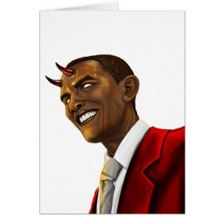 Le Président Barack Obama en tant que diable Cartes De Vœux