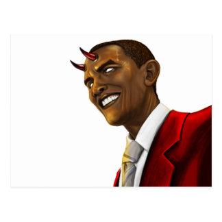 Le Président Barack Obama en tant que diable Cartes Postales