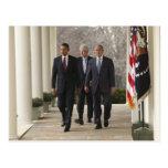 Le Président Barack Obama et anciens présidents Carte Postale