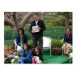 Le Président Barack Obama et famille Cartes Postales