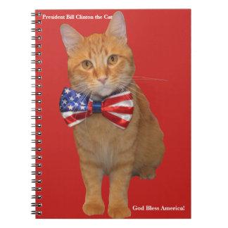 Le Président Bill Clinton le carnet de notes à