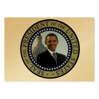 Le président de Barack Obama quarante-quatrième de Carte De Visite Grand Format