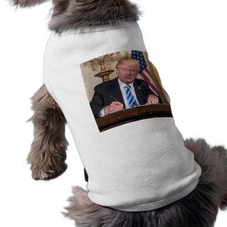 Le Président Donald Trump T-shirt Pour Chien