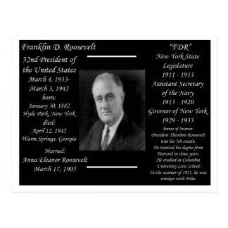 Le Président Franklin D Roosevelt Carte Postale