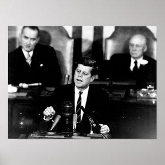 Le Président John F. Kennedy Poster