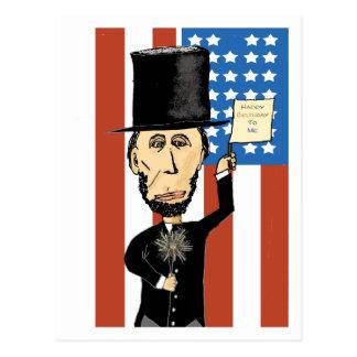 Le Président Lincoln Happy Bday 2 je carte postale