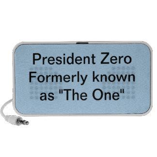 Le Président mettent à zéro autrefois connu en tan Haut-parleur