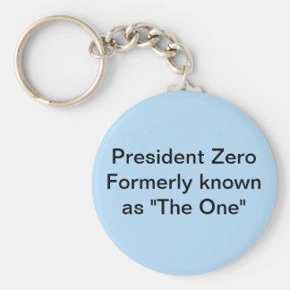 Le Président mettent à zéro autrefois connu en tan Porte-clé Rond