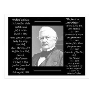 Le Président Millard Fillmore Carte Postale