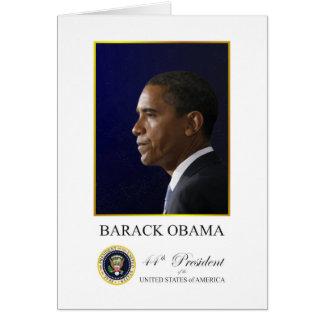 Le Président Obama avec la carte de voeux élégante