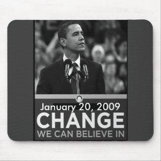 Le Président Obama Change Keepsakes Tapis De Souris