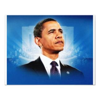 Le Président Obama Carton D'invitation 10,79 Cm X 13,97 Cm