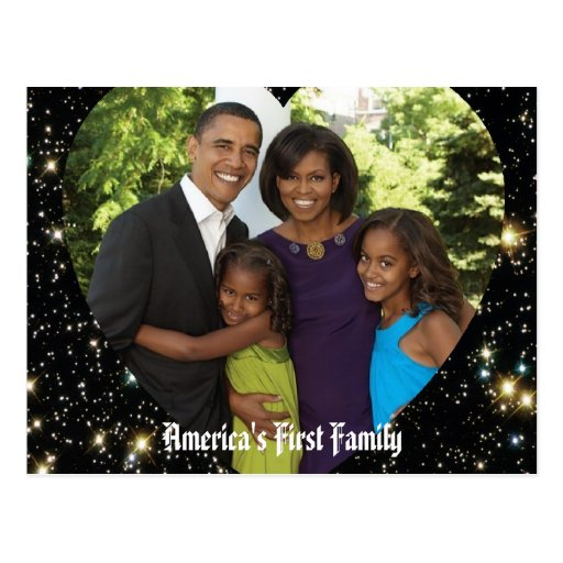 Le Président Obama First Family Keepsake Carte Postale