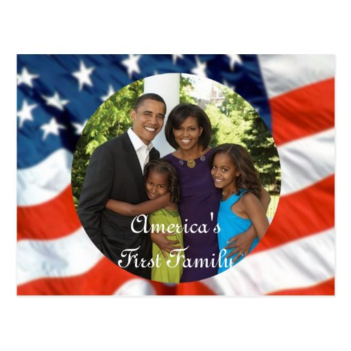 Le Président Obama First Family Keepsake Cartes Postales