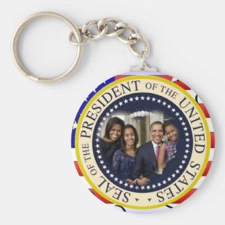 Le Président Obama First Family Keepsake Porte-clé Rond