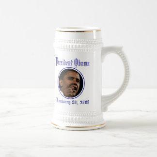 Le Président Obama Inauguration Keepsake Stein Chope À Bière