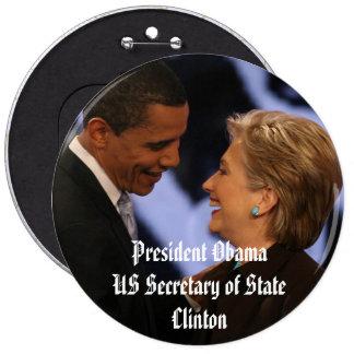 "Le Président Obama Inauguration Keepsakes 6"" Badge Rond 15,2 Cm"