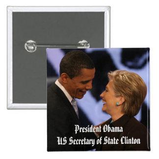 Le Président Obama Inauguration Keepsakes Badge Carré 5 Cm