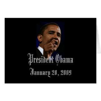 Le Président Obama Inauguration Keepsakes Blank Carte De Vœux