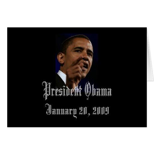 Le Président Obama Inauguration Keepsakes Blank Cartes De Vœux
