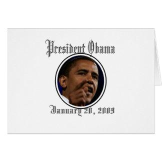 Le Président Obama Inauguration Keepsakes Carte De Vœux