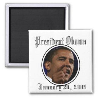 Le Président Obama Inauguration Keepsakes Magnet Carré