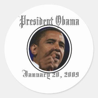 Le Président Obama Inauguration Keepsakes Sticker Rond