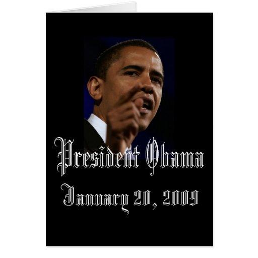 Le Président Obama Keepsake Carte De Vœux
