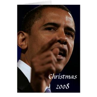 Le Président Obama Keepsake Christmas 2008 Carte De Vœux
