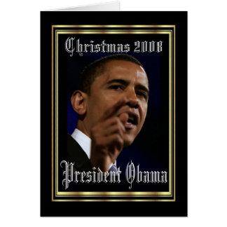 Le Président Obama Keepsake Christmas 2008 élégant Carte De Vœux