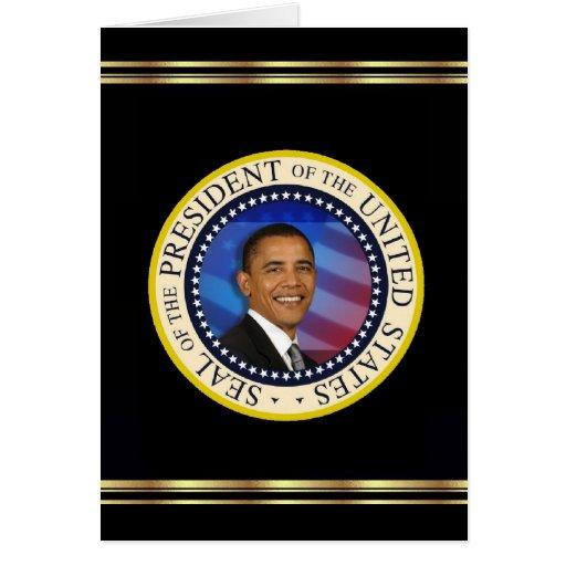 Le Président Obama Keepsake Christmas 2008 élégant Cartes De Vœux