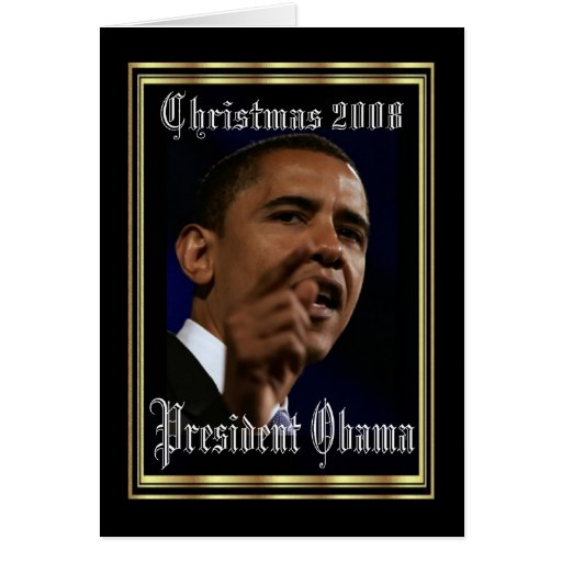 Le Président Obama Keepsake Christmas Carte