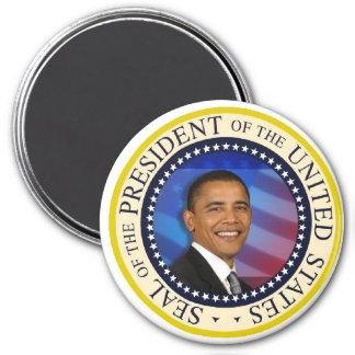 """Le Président Obama Keepsake Large 3"""" Magnet Rond 7,50 Cm"""