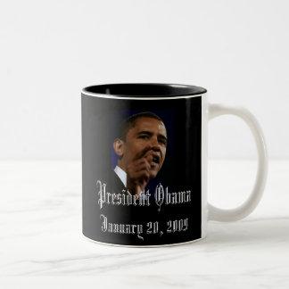 Le Président Obama Keepsake Mug Bicolore